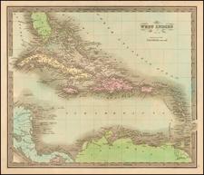 Caribbean Map By Jeremiah Greenleaf