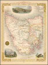 Australia Map By John Tallis