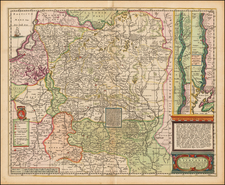 Poland, Russia and Baltic Countries Map By Moses Pitt - Jacob van Waesberg