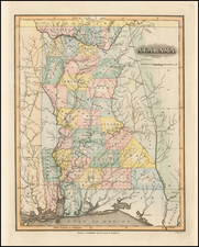 Alabama Map By Fielding Lucas Jr.
