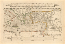 Greece, Mediterranean, Middle East, Holy Land and Turkey & Asia Minor Map By Jacob Honervogt