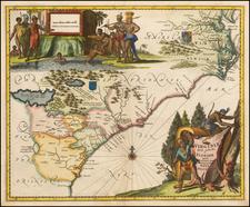 West Virginia, Southeast, Georgia, North Carolina and South Carolina Map By John Ogilby
