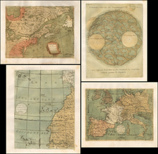 New England, Mid-Atlantic, Southeast, Midwest, Canada, South America, Europe, Europe, West Africa, Curiosities, Celestial Maps, America and Rare Books Map By Jean Fabien Gautier d'Agoty