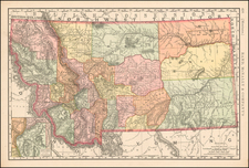Plains, Rocky Mountains and Montana Map By William Rand  &  Andrew McNally