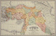 Europe, Asia and Turkey & Asia Minor Map By William Rand  &  Andrew McNally