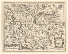 France Map By Jodocus Hondius  &  Henricus Hondius