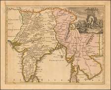India and Southeast Asia Map By Johann Christoph Weigel