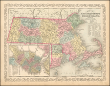 United States, Massachusetts and Rhode Island Map By Charles Desilver