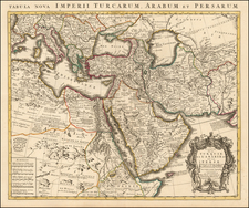 Turkey, Central Asia & Caucasus, Middle East, Turkey & Asia Minor and North Africa Map By Johannes Covens  &  Cornelis Mortier