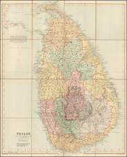 India, Other Islands and Sri Lanka Map By Edward Stanford