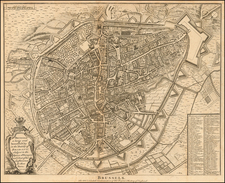 Belgium Map By Paul de Rapin de Thoyras