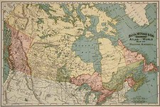 Canada Map By William Rand  &  Andrew McNally