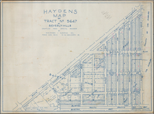 Los Angeles Map By W. E. Hayden