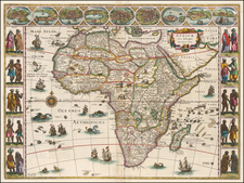 Africa and Africa Map By Willem Janszoon Blaeu