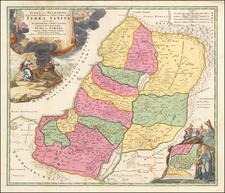 Holy Land Map By Johann Baptist Homann