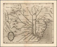South America and Uruguay Map By Cornelis van Wytfliet