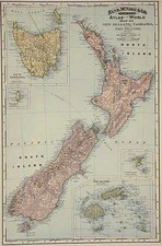 Australia & Oceania, Australia, Oceania, New Zealand and Other Pacific Islands Map By William Rand  &  Andrew McNally