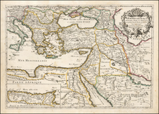 Greece, Turkey, Mediterranean, Central Asia & Caucasus, Middle East, Holy Land and Turkey & Asia Minor Map By Pierre Du Val