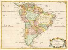 South America Map By Nicolas Sanson