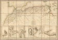 North Africa Map By E. Collin
