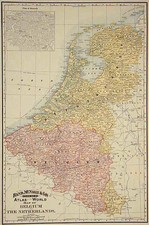 Europe and Netherlands Map By William Rand  &  Andrew McNally