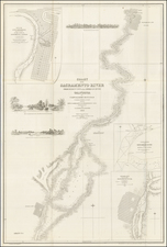 [Gold Rush Era Sacramento]. Chart of the Sacramento River From Suisun City to the American River California . . . 1850 By Cadwalader Ringgold