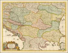 Hungary, Romania and Balkans Map By Gerrit van Schagen