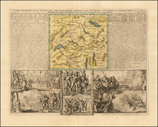 Switzerland Map By Henri Chatelain