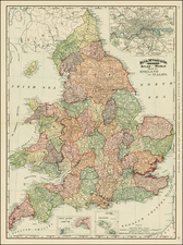 Europe and British Isles Map By William Rand  &  Andrew McNally
