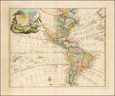 America Map By Giambatista Novelli