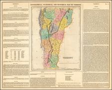 New England and Vermont Map By Henry Charles Carey  &  Isaac Lea