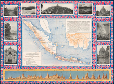 Southeast Asia Map By Dutch East-Indian Government Railways