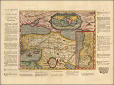 World, Mediterranean, Holy Land and Turkey & Asia Minor Map By Abraham Ortelius