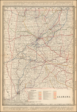 Alabama Map By George F. Cram