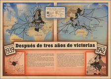 World, World and World War II Map By Anonymous