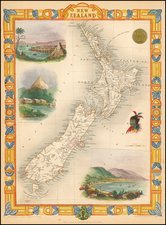 New Zealand Map By John Tallis
