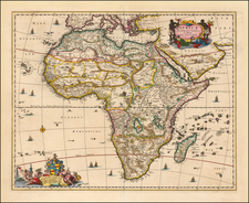 Africa and Africa Map By Nicolaes Visscher I