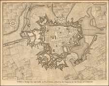 Ypres a Strong City and Castle in Flanders, restored to the Emperor by the Treaty of Utrecht By Paul de Rapin de Thoyras