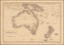 Australia & Oceania, Australia, Oceania and New Zealand Map By Sidney Hall