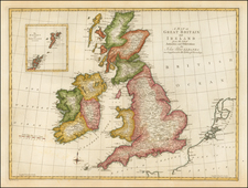 British Isles Map By John Blair