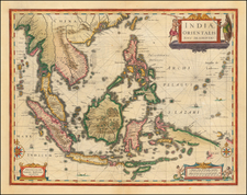 Southeast Asia, Philippines, Indonesia, Malaysia and Thailand, Cambodia, Vietnam Map By Jan Jansson