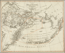 Polar Maps, Alaska, China, Other Islands, Pacific and Russia in Asia Map By Land Industrie Comptoirs