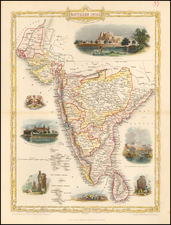 India and Other Islands Map By John Tallis