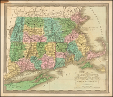 New England Map By Jeremiah Greenleaf