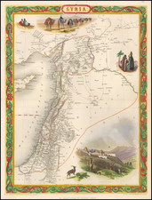 Middle East and Holy Land Map By John Tallis