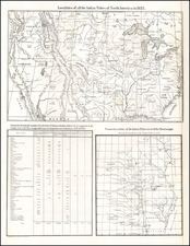 United States, Texas, Midwest, Plains, Southwest, Rocky Mountains and California Map By Thomas L. McKenny  &  James Hall