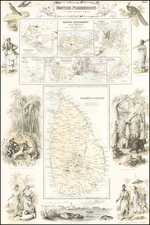 India, Southeast Asia and Other Islands Map By Archibald Fullarton & Co.