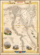 Middle East and North Africa Map By John Tallis