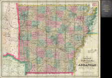 South and Arkansas Map By G.W.  & C.B. Colton