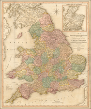 England Map By William Faden